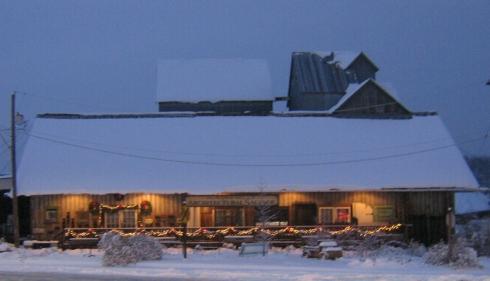 Oregon Architectural Salvage in Winter