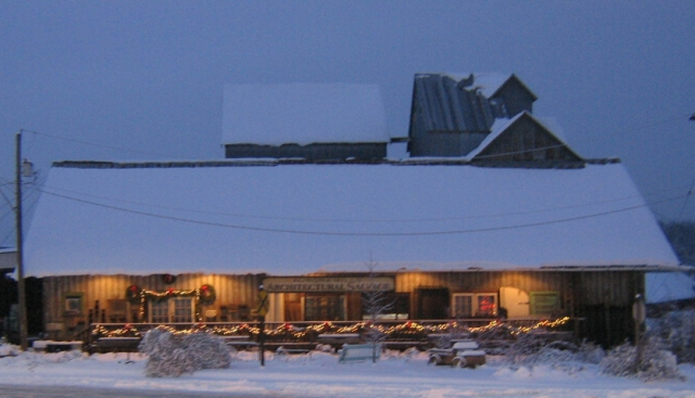 Oregon Architectural Salvage in Winter